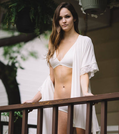 The Hendricks- Bamboo Bralette in Ivory