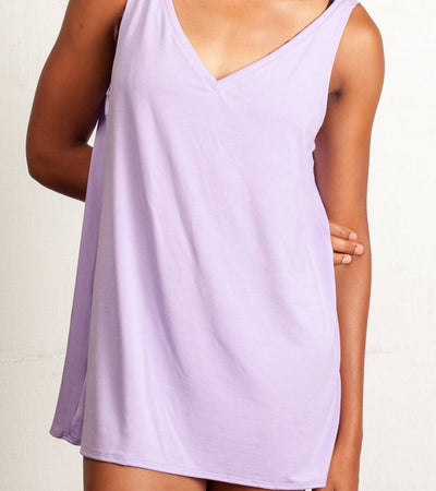 The Sybil- Bamboo Sleep Tank in Lavender
