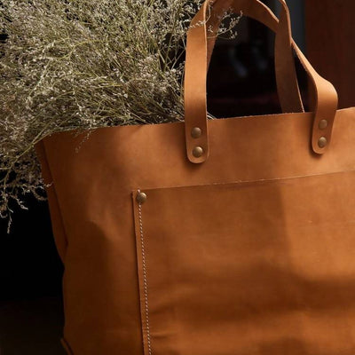 Aida Leather Tote