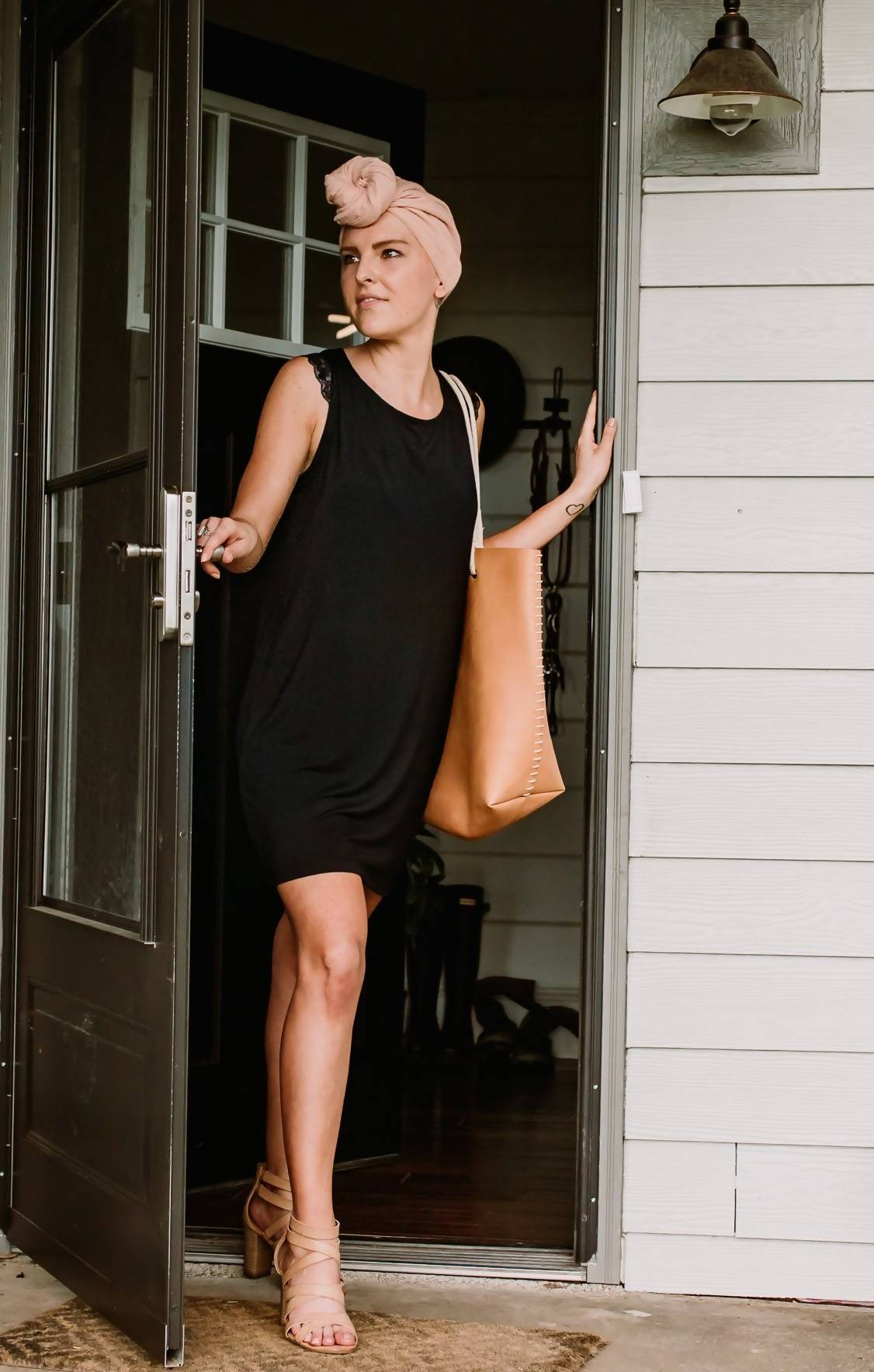 The Anna- Day or Night Bamboo Shift Dress in Black