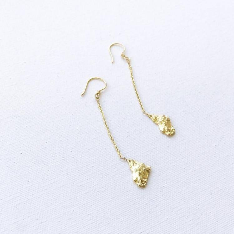 Studio 54 Gold Nugget Earrings