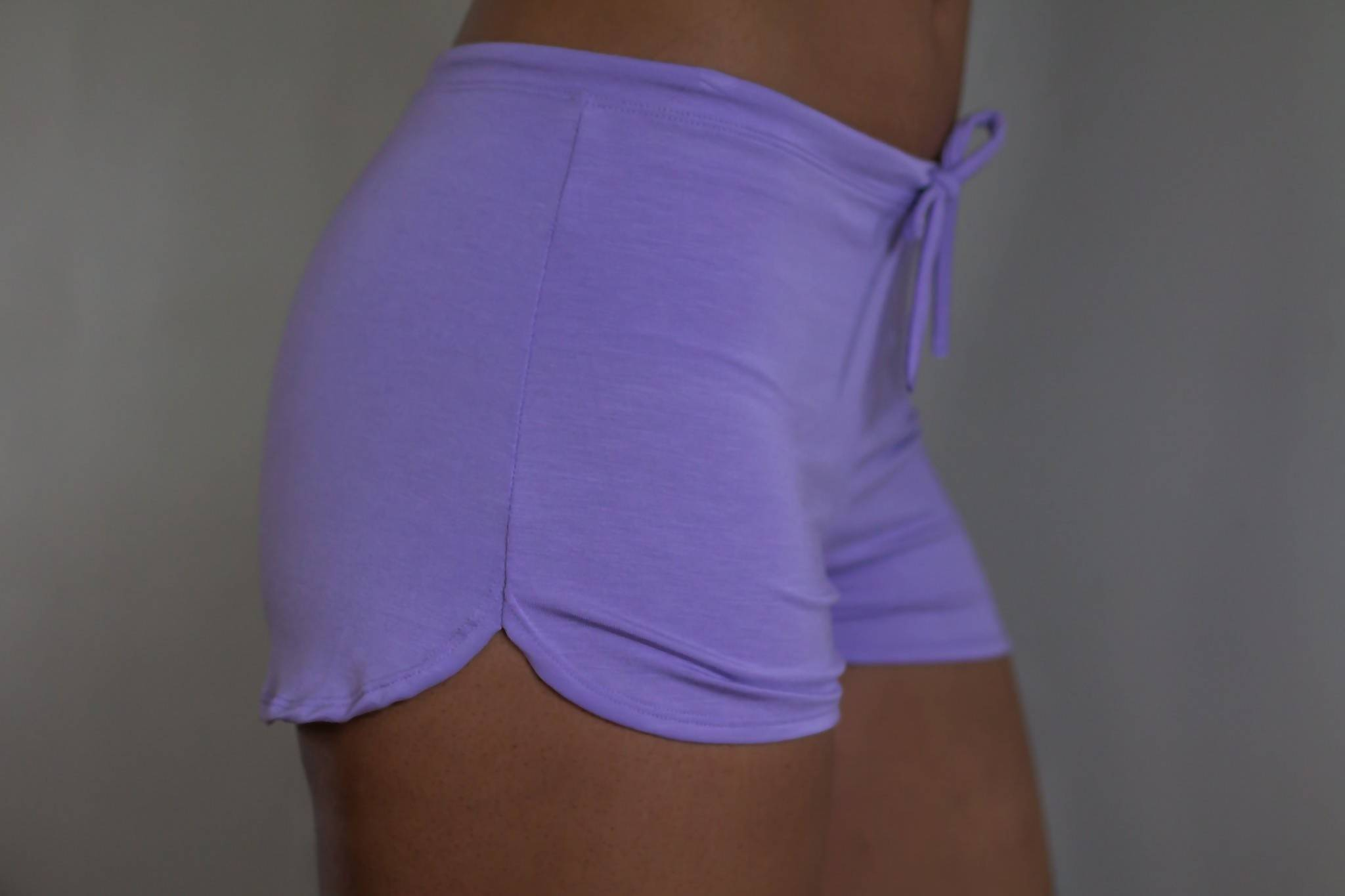 The Simone- Bamboo Sleep Short in Lavender