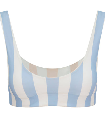 CAMILLE TOP - SERENITY BLUE / ROSE PINK