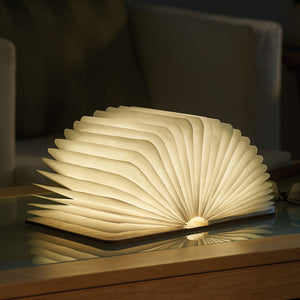jw08 Wooden Book Shaped Desk Lamp