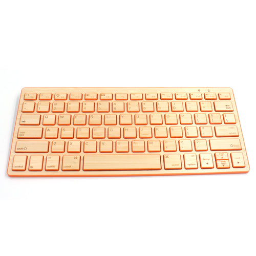jw08 Wireless Bluetooth Ultra Thin Wood Keyboard