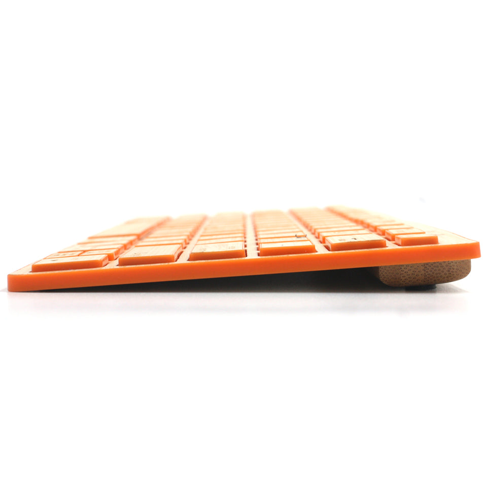 Engadgetry Wireless Bluetooth Ultra Thin Wood Keyboard