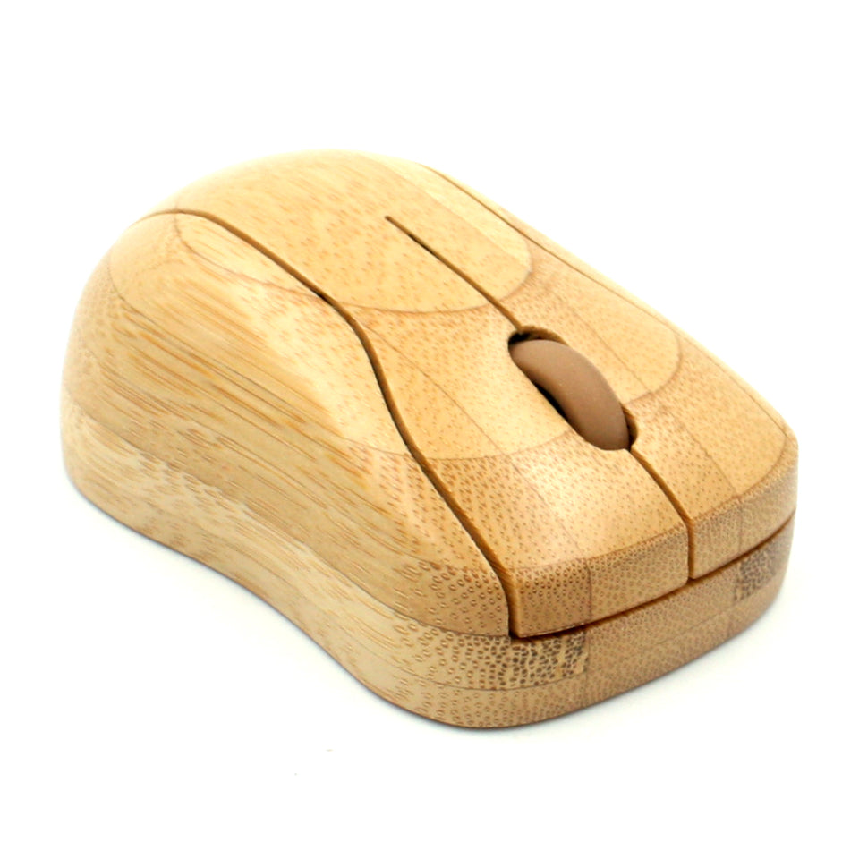 Engadgetry Wireless Wifi Bamboo Wood Mouse