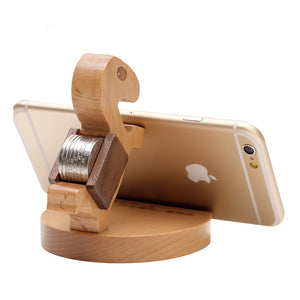 jw08 Bamboo Turtle Smartphone Stand