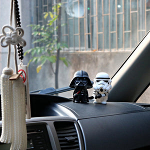 jw08 Star Wars Darth Vader & StromTrooper Car Interior Dashboard Decoration