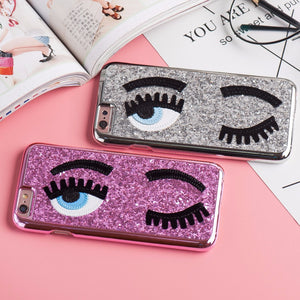 jw08 Glitter Powder Big Lashes Flirt-At-You iPhone Case