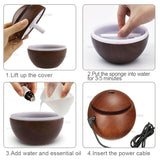 jw08 Aromatic Essential Oil Diffuser Humidifier with Ultrasonic Cool Mist Humidifier