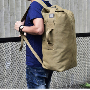 Engadgetry Multifunctional Military Tactical Canvas Backpack