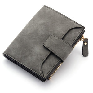 jw08 Saffino Vegan Leather Women Wallet and Coin Pocket Purse in Deep Gray