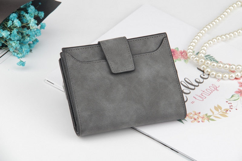 Engadgetry Saffino Vegan Leather Women Wallet and Coin Pocket Purse in Deep Gray