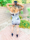 Newspaper Cami Dress
