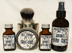 Mill Station No. 1 Organic Deluxe Shave Routine Set
