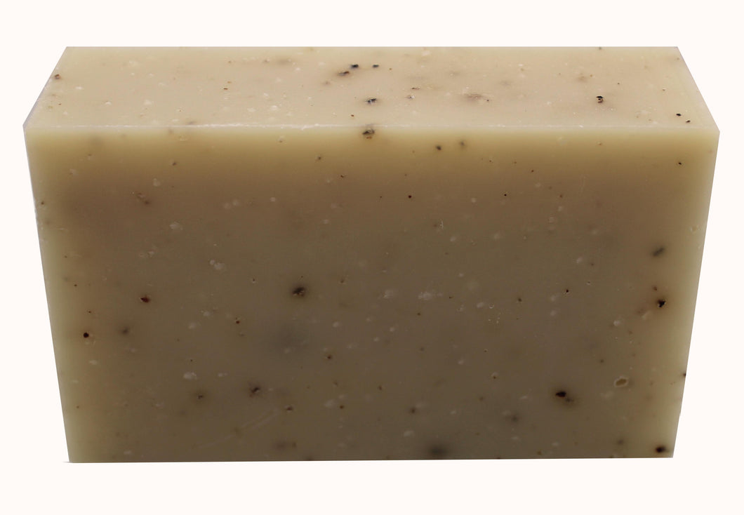 Organic bar soap with a woodsy scent