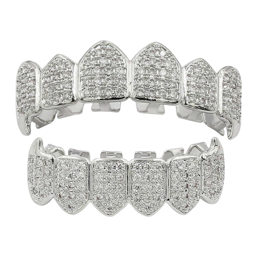 Iced Out Diamond Grillz Set