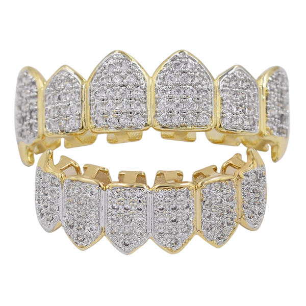 Iced Out CZ Diamond Teeth Grillz