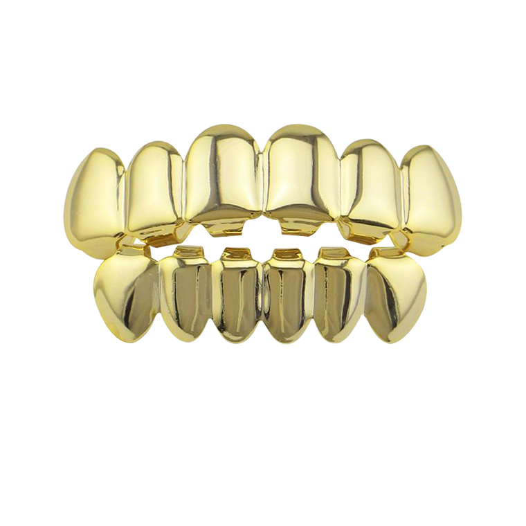 Gold Teeth Grillz Top & Bottom