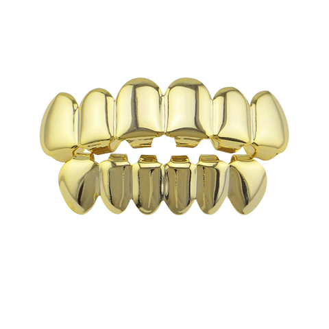 Gold Teeth Grillz (6 Teeth)