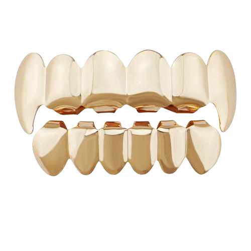 Rose Gold Teeth Grillz Set (6 Teeth)