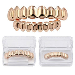 Rose Gold Teeth Grillz Set