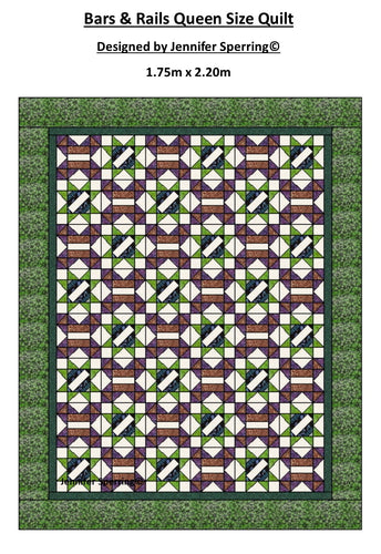 Bars & Rails Queen Quilt Pattern