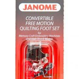 Janome Convertible Free Motion Quilt Foot Set