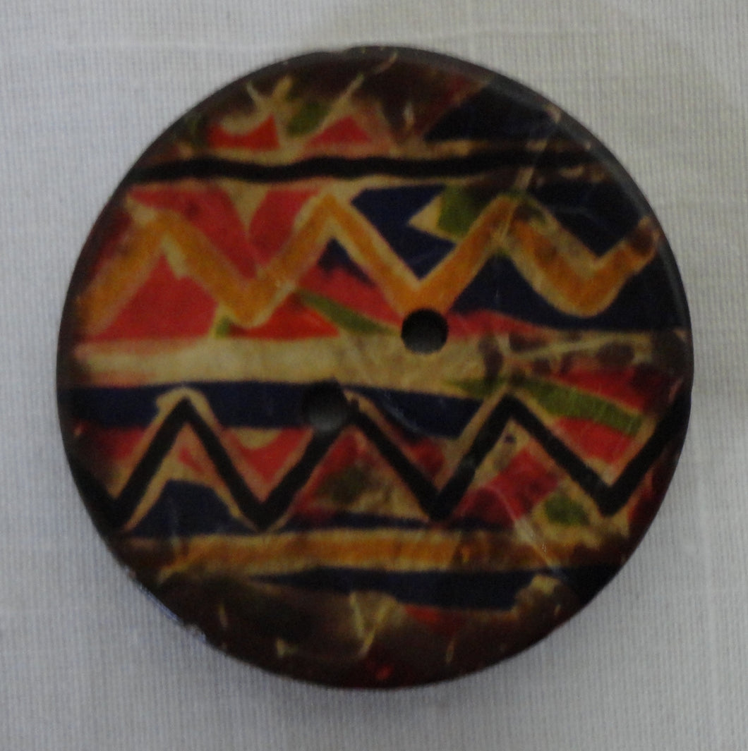 Painted Coconut Shell Buttons