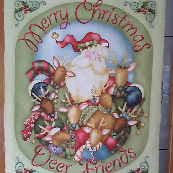 Panel - Merry Christmas Deer Friends