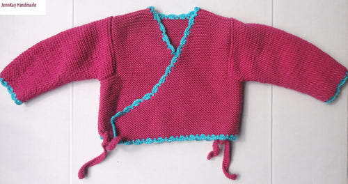 Baby Knitted Kimino Jacket - 0-3 months