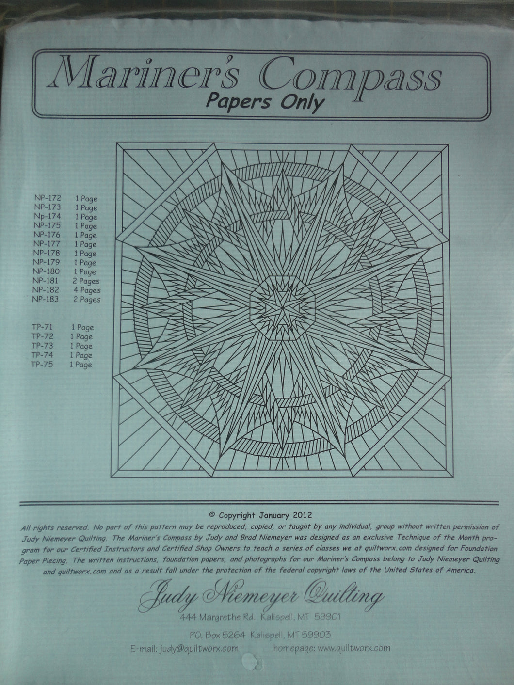 Q - Mariners Compass Wall Size Replacement Papers