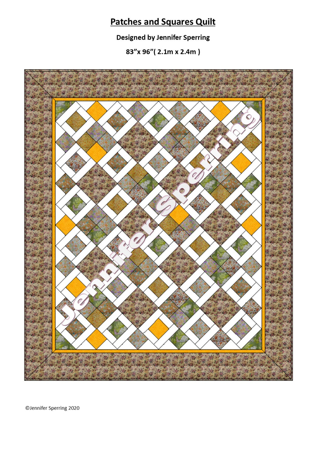 Patches & Squares Quilt Pattern & Kit