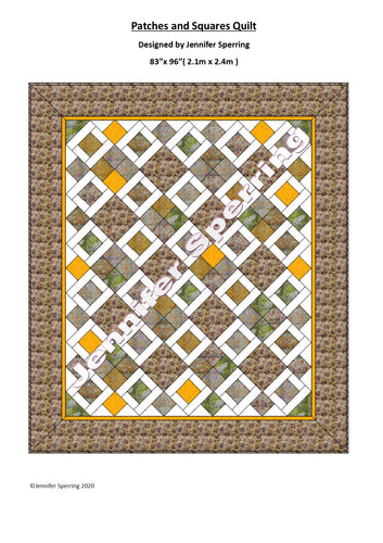 Patches & Squares Queen Quilt Pattern