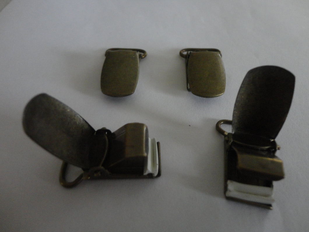 Suspender/Strap Clips - Antique Gold