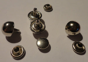 Stud Buttons Silver .9mm
