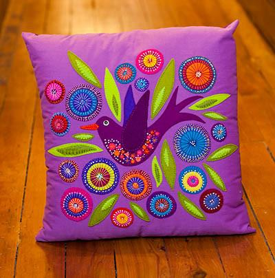 Flying Bird Cushion by Wendy Williams