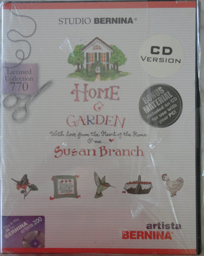 Studio Bernina Home & Garden by Susan Branch #770 Embroidery Set