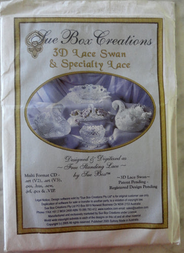 Sue Box Creations - 3D Lace Swan & Specialty Lace
