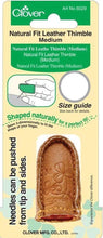 Clover Natural Fit Leather Thimble - Medium