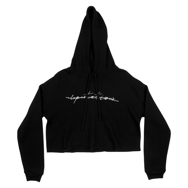 EXPECTATIONS CROPPED HOODIE