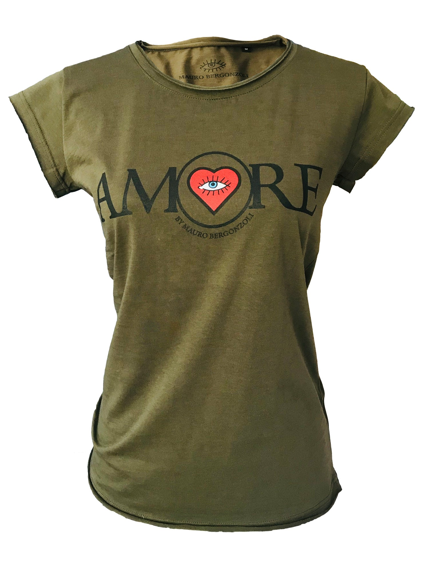 T-Shirt in Colour Military - AMORE by Mauro Bergonzoli