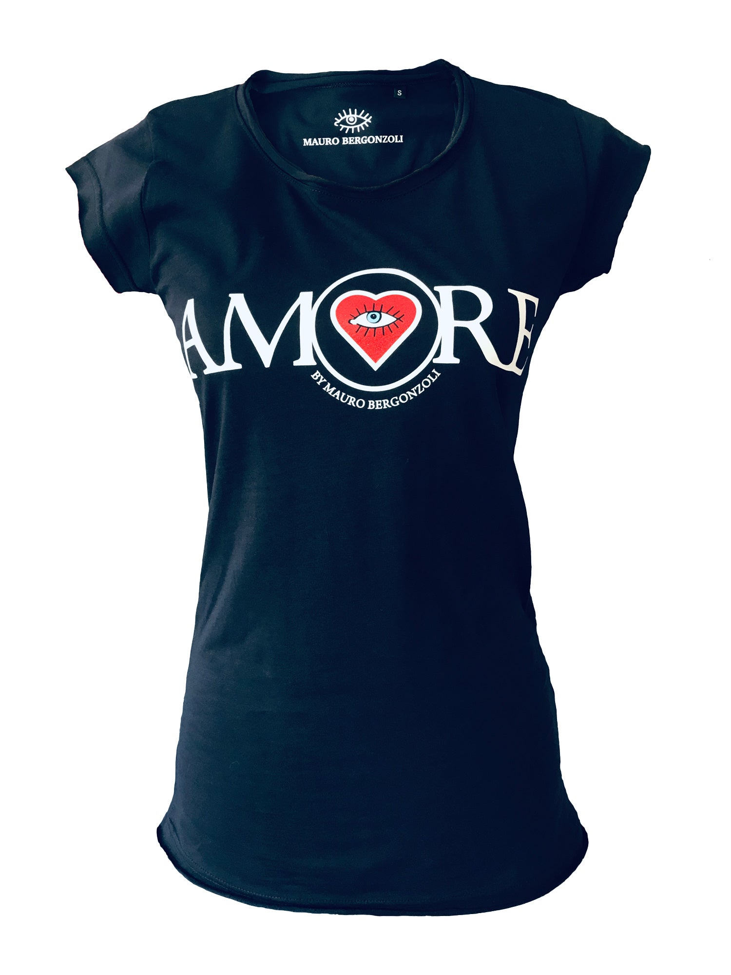 T-Shirt in Colour Navy - AMORE by Mauro Bergonzoli