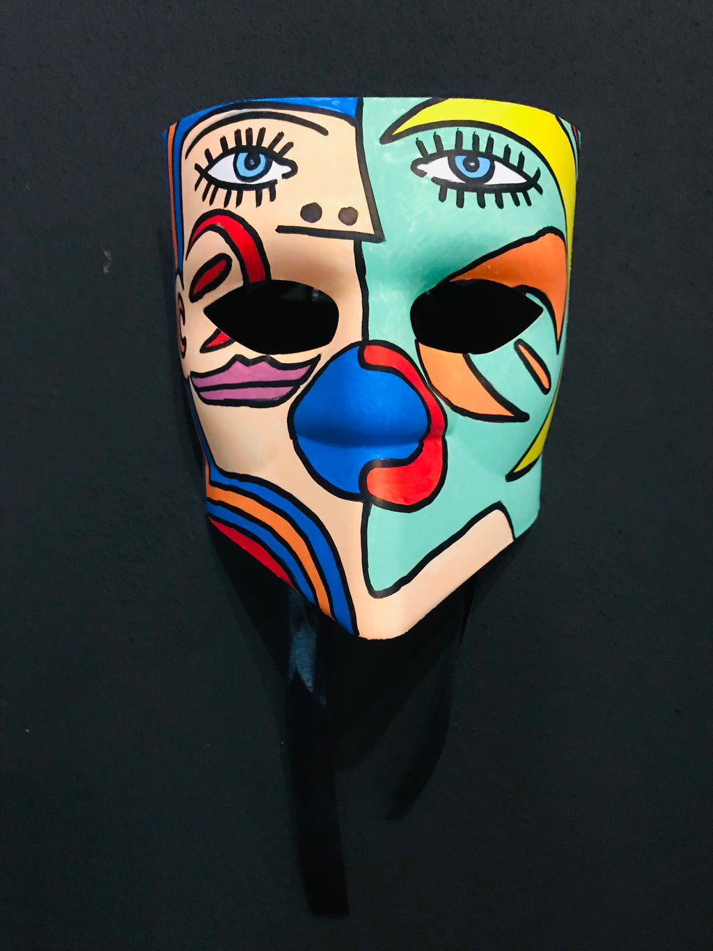 Venetian Mask 1 - painted with acrylic