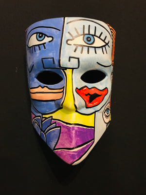 Venetian Mask 2 - painted with acrylic