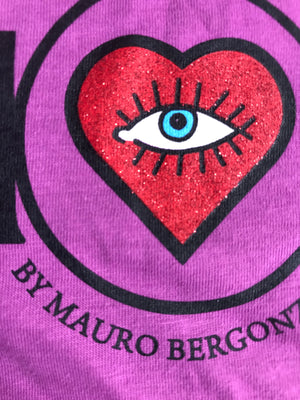 T-Shirt in Colour Orchid - AMORE by Mauro Bergonzoli