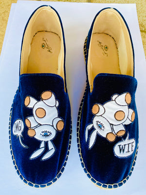 """The Magic Bunny"" Velvet Espadrilles"