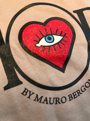 T-Shirt in Colour Sand - AMORE by Mauro Bergonzoli