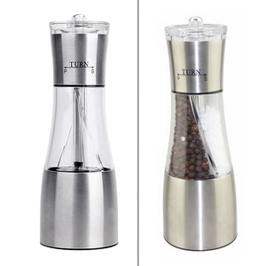 Pepper and Salt  Stainless Steel Manual Salt  Grinder